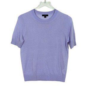 J. Crew Lilac Silk Blend Short Sleeve Sweater